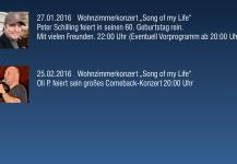 27012016n N Wohnzimmerkonzert Song Of My Lifen Peter Schilling Feiert In Seinen 60 Geburtstag Reinn Viele Freunde Sind Dabein Ab